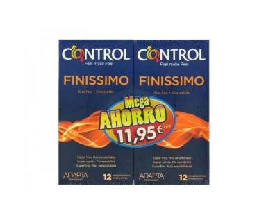 PRESERVATIVO CONTROL ADAPTA FINISSIMO PACK MEGA AHORRO 12 + 12 UNIDADES