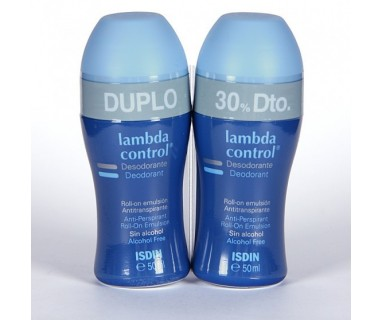 PACK DESODORANTE LAMBDA CONTROL ROLL-ON SIN ALCOHOL 2X50 ML
