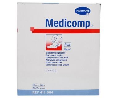 MEDICOMP COMPRESAS NON WOVEN 10 X 10CM 25 SOBRES