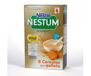 NESTLE NESTUM PAPILLA 8 CEREALES CON GALLETA 600