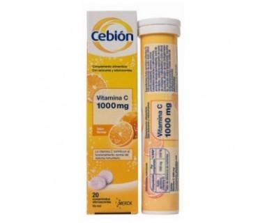 Cebion Vitamina C 1000 mg 20 comprimidos efervescentes Merck