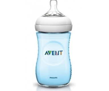 BIBERON AVENT NATURAL AZUL 330 ML