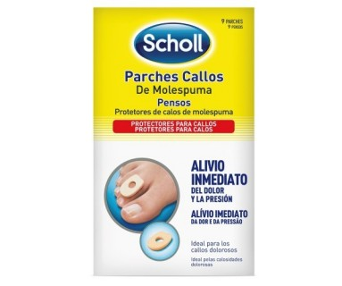 DR SCHOLL PARCHES CALLOS DE MOLESPUMA 9 PARCHES