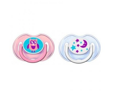 CHUPETE SILICONA PHILIPS AVENT 0- 6 M FASHION DECORADO 2