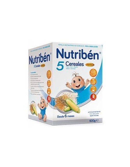 NUTRIBEN 5 CEREALES FIBRA 600 G.