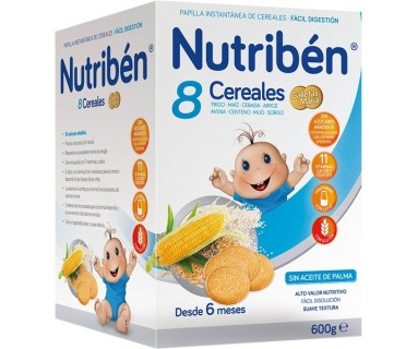 NUTRIBEN 8 CEREALES GALLETAS MARIA 600 G.