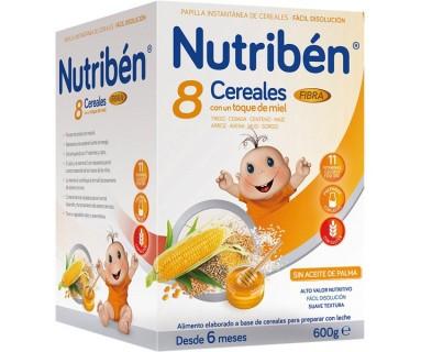 NUTRIBEN 8 CEREALES MIEL Y FIBRA 600 GRAMOS