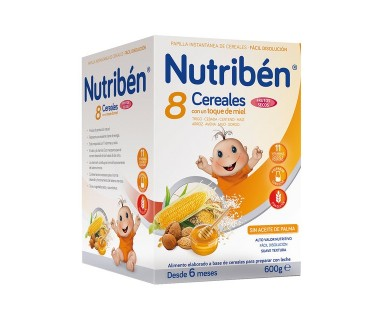 NUTRIBEN 8 CEREALES MIEL Y FRUTOS SECOS 600 GRAMOS