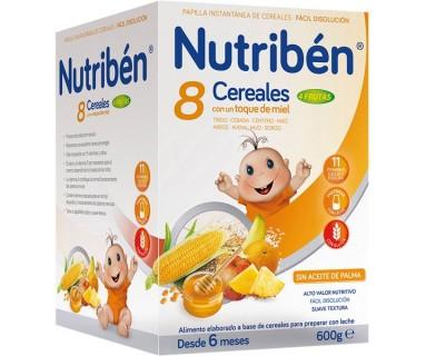 NUTRIBEN 8 CERALES MIEL Y FRUTAS 600 GRAMOS