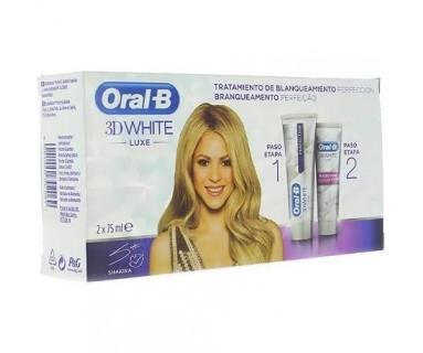 ORAL-B 3D WHITE LUXE TRATAMIENTO DE BLANQUEAMIENTO - PERFECCIÓN + ACELERADOR 2 X 75 ML