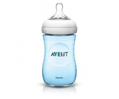 BIBERON PP NATURAL PHILIPS AVENT +1 MESES 260 ML AZUL