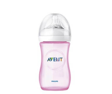BIBERON PP NATURAL PHILIPS AVENT +1 MESES 260 ML ROSA