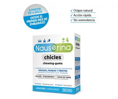 Nauserina 12 chicles jengibre Deiters