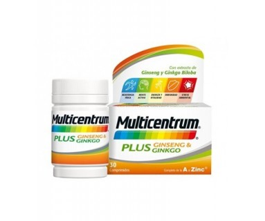 MULTICENTRUM PLUS GINKGO 30 COMPRIMIDOS