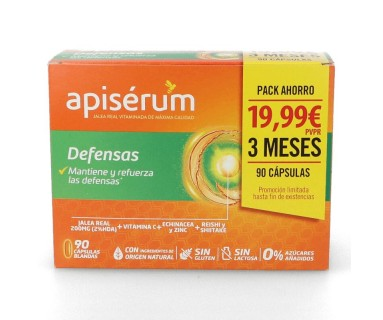 APISERUM DEFENSAS PACK AHORRO 3 MESES 90 CAPSULAS