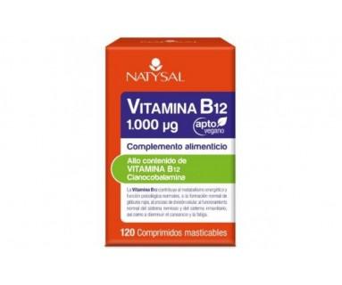 VITAMINA B12 1000 µg. 120 COMPRIMIDOS APTOS PARA VEGANOS