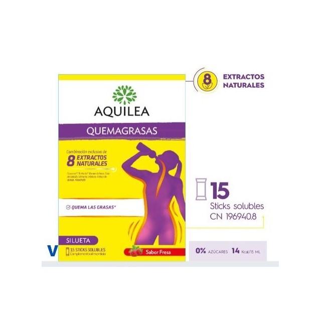 AQUILEA QUEMAGRASAS SILUETA 15 STICKS SOLUBLES