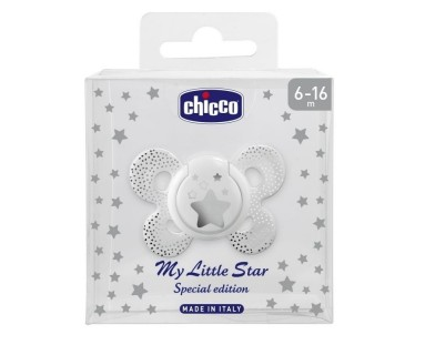 CHUPETE SILICONA CHICCO MY LITTLE STAR SPECIAL EDITION 6-16 MESES