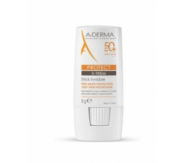 A-DERMA PROTECT X-TREM STICK INVISIBLE SPF 50+ 8 G.