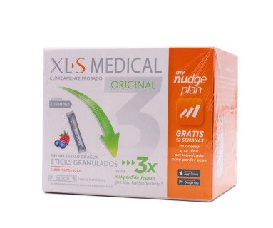 XLS MEDICAL ORIGINAL 90 STICKS FRUTOS ROJOS MY NUDGE PLAN
