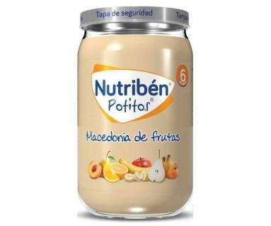 NUTRIBEN POTITO INICIO POSTRE 6 FRUTAS CON CEREALES 130 GRAMOS