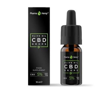 CBD Drops Con Aceite de Oliva 5% 10 ml