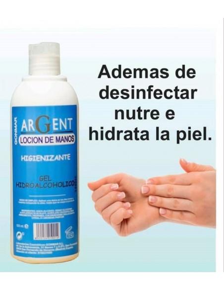 Argent Loción De Manos Higienizante Gel Hidroalcohólico Gonmar 500 ml