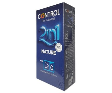 Profilácticos Control Nature 2In1 6 Kits Preservativo + Gel Lubricante