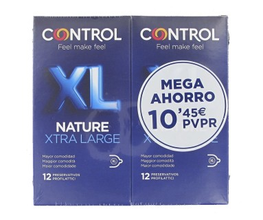 Profilácticos Control XL Nature Xtra Large Pack Ahorro 2x12 uds.