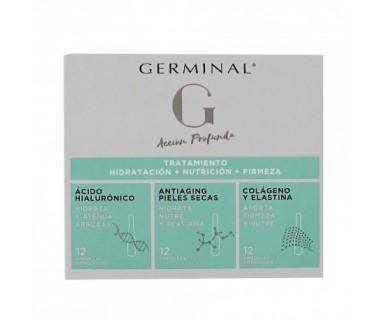 Germinal Tratamiento Hidratación + Nutrición + Firmeza 36 Ampollas