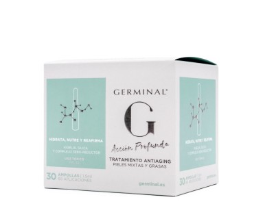 Germinal Acción Profunda Antiaging Pieles Mixtas y Grasas 30 Ampollas 1.5 ml.