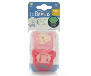 Chupete nocturno 6-12 meses Dr Browns