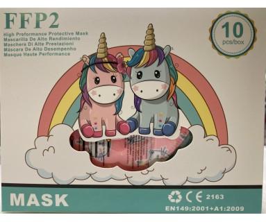 Mascarilla Infantil de Alto Rendimiento FFP2 Colores/Dibujos