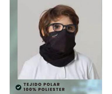 Mascarilla Integral Ajustable Tejido Polar Blanco Talla unica