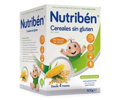NUTRIBEN PAPILLA CEREALES SIN GLUTEN 600 GRAMOS