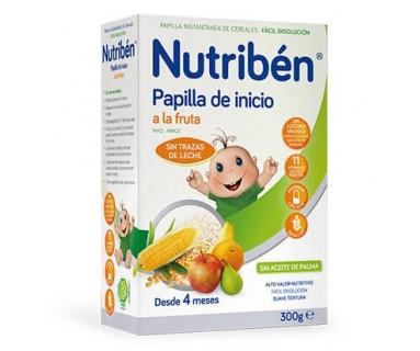 NUTRIBEN PAPILLA DE INICIO A LA FRUTA 300 GRAMOS