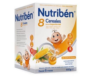 NUTRIBEN 8 CEREALES CON MIEL 800 GRAMOS