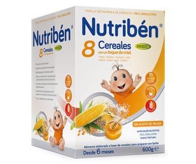 NUTRIBEN 8 CEREALES MIEL BIFIDUS 600 GRAMOS