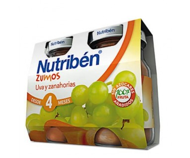 NUTRIBEN ZUMO DE UVA Y ZANAHORIA 2 * 130 ML