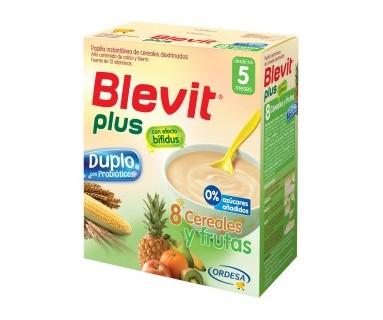 BLEVIT PLUS DUPLO 8 CEREALES Y FRUTAS 600 GRAMOS