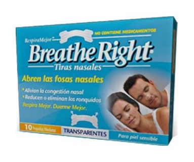 BREATH RIGHT TIRAS NASALES TRANSPARENTES 10 TIRAS GRANDES
