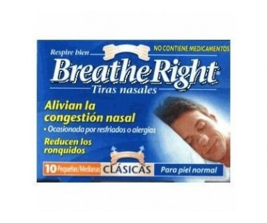 BREATHE RIGHT TIRAS NASALES CLÁSICAS 10 TIRAS GRANDES
