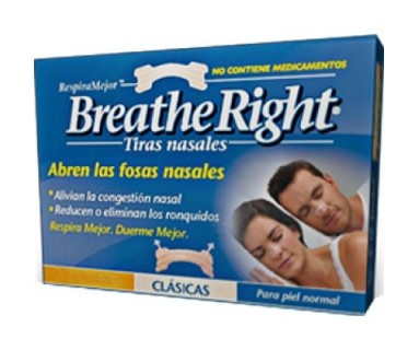 BREATHE RIGHT TIRAS NASALES CLÁSICAS 30 TIRAS PEQ/MED