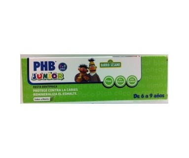 PHB JUNIOR PASTA DENTIFRICA 6-9 AÑOS SABOR MENTA 75ML