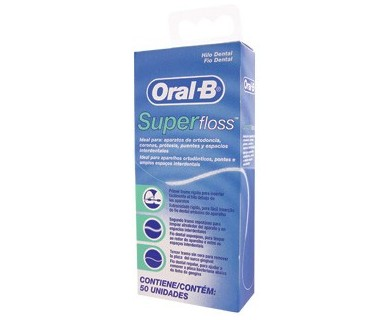 HILO DENTAL ORAL-B SUPER FLOSS 50UNIDADES