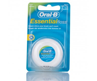 SEDA DENTAL CON CERA ORAL-B ESSENTIAL FLOSS FLUOR-MENTA 5M