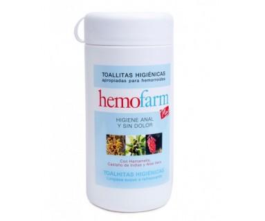 HEMOFARM PLUS TOALLITAS HIGIENE ANAL BOTE 60 TOALLITAS