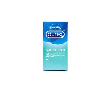 PROFILACTICO DUREX NATURAL PLUS EASY ON 24 UNIDADES