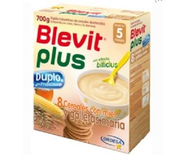 BLEVIT PLUS DUPLO 8 CEREALES CON MIEL Y GALLETAS MARIA