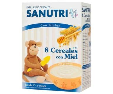 SANUTRI 8 CEREALES MIEL 600 G